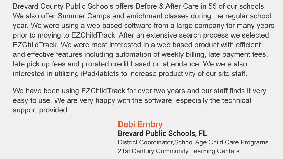 childcare management software